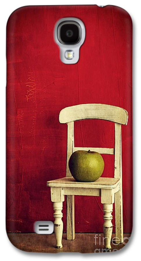 Chair Galaxy S4 Case featuring the photograph Chair Apple Red Still Life by Edward Fielding