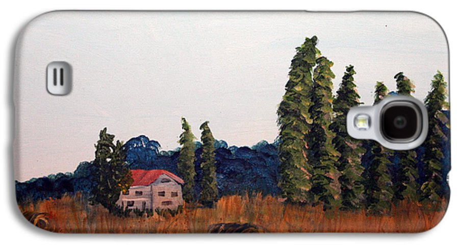 Landscape Galaxy S4 Case featuring the painting Chateau D'eauville by Maura Satchell