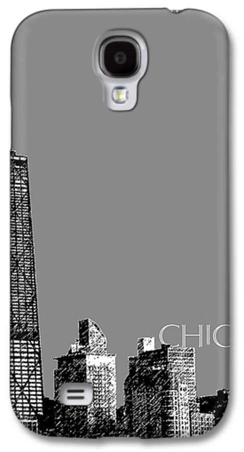 Architecture Galaxy S4 Case featuring the digital art Chicago Hancock Building - Pewter by DB Artist