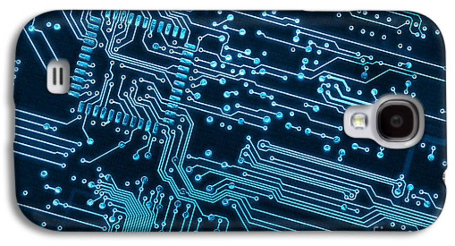 Abstract Galaxy S4 Case featuring the photograph Circuit Board by Carlos Caetano