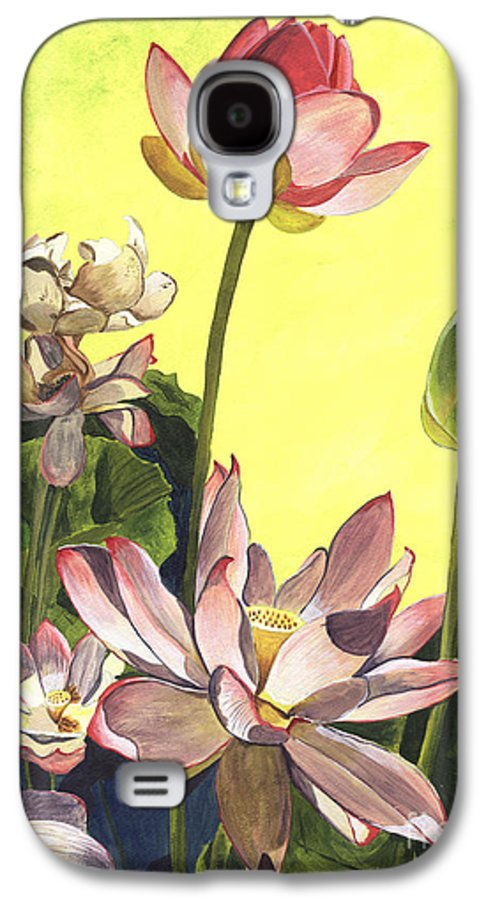 Floral Galaxy S4 Case featuring the painting Citron Lotus 1 by Debbie DeWitt