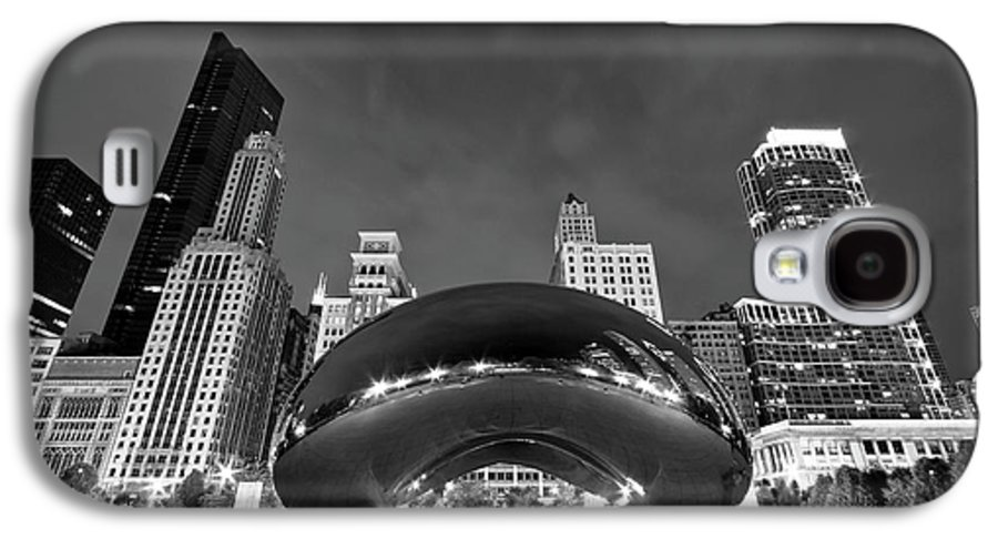 3scape Photos Galaxy S4 Case featuring the photograph Cloud Gate And Skyline by Adam Romanowicz