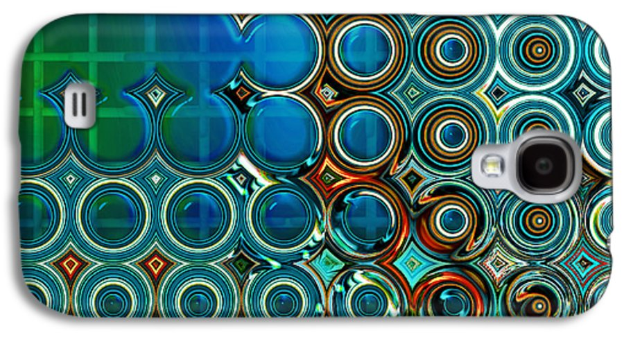 Abstract Galaxy S4 Case featuring the digital art Cornered by Wendy J St Christopher