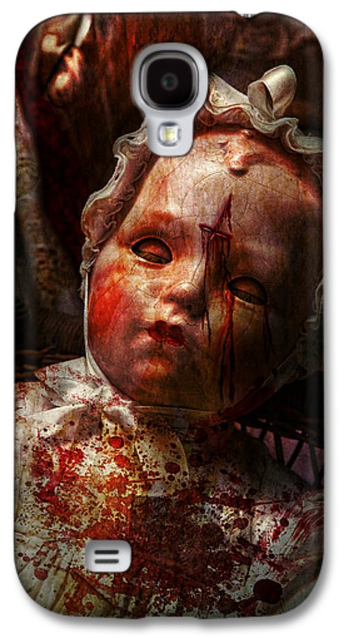 Doll Galaxy S4 Case featuring the photograph Creepy - Doll - It's Best To Let Them Sleep by Mike Savad