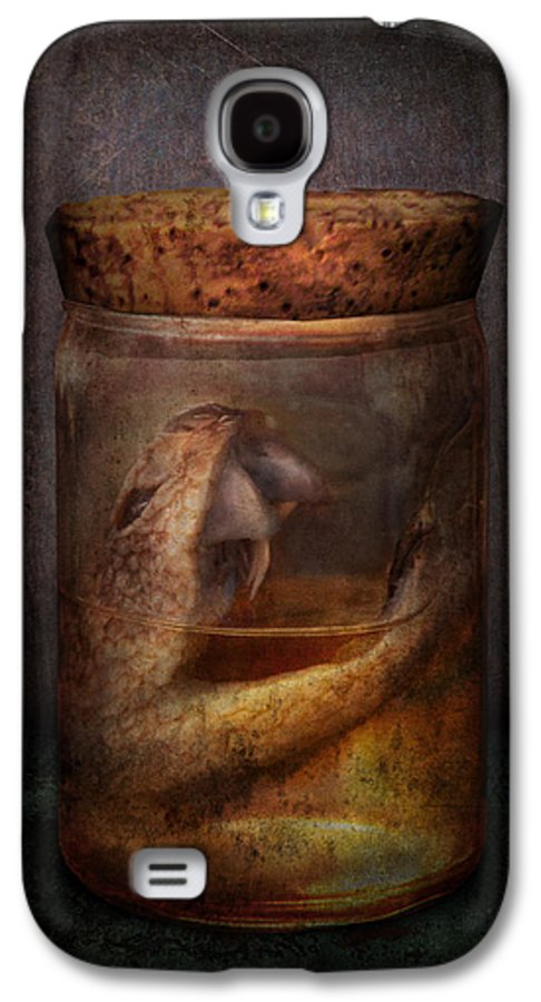 Creepy Galaxy S4 Case featuring the photograph Creepy - Tonight We Eat Snake by Mike Savad