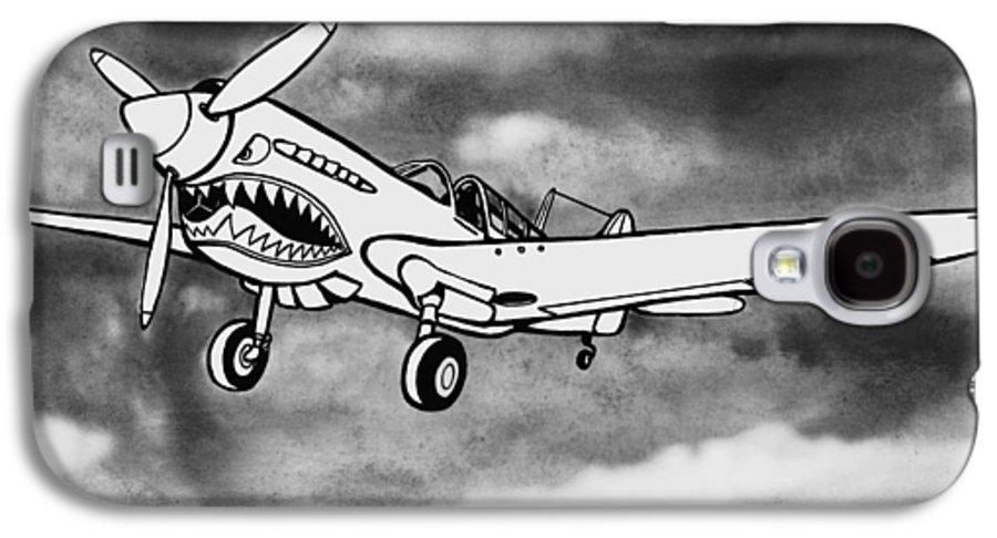 Warhawk Galaxy S4 Case featuring the mixed media Curtiss P-40 Warhawk 2 by Scott Nelson