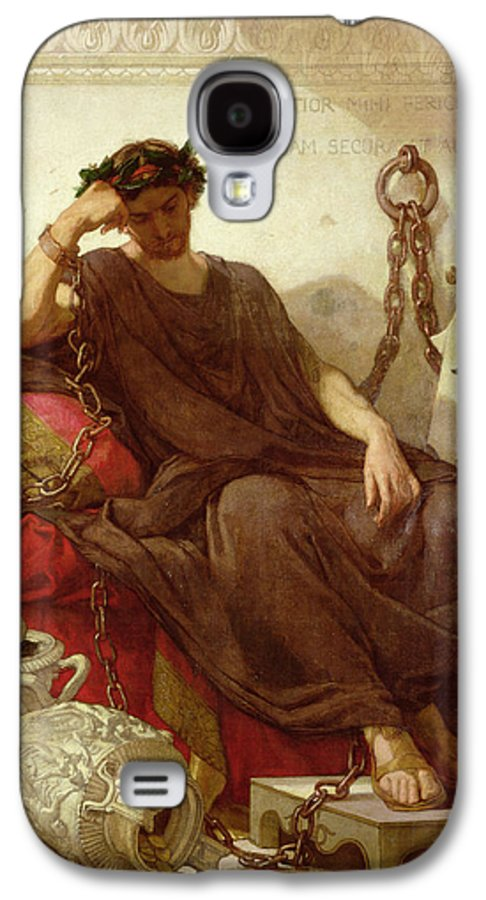 Chained Galaxy S4 Case featuring the painting Damocles by Thomas Couture