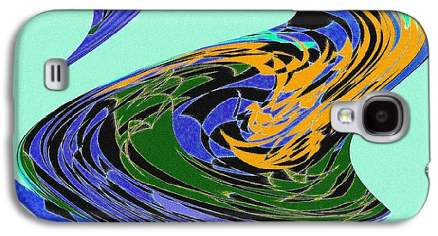 Abstract Galaxy S4 Case featuring the digital art Dancing Goose by Will Borden