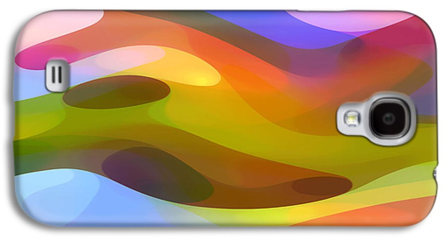 Abstract Art Galaxy S4 Case featuring the painting Dappled Light 10 by Amy Vangsgard