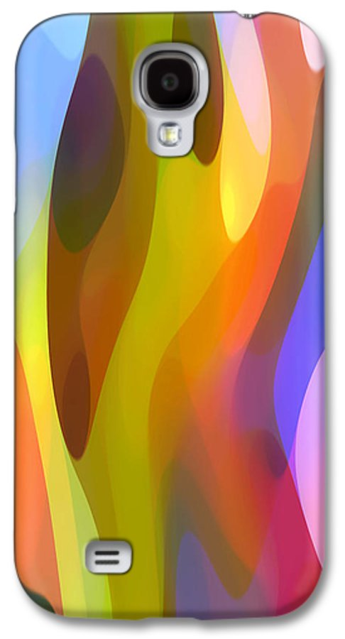 Abstract Art Galaxy S4 Case featuring the painting Dappled Light 3 by Amy Vangsgard