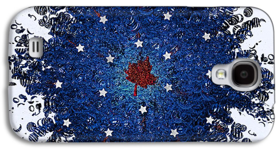 First Star Art By Jrr And Jammer Galaxy S4 Case featuring the mixed media Dual Citizenship 1 by First Star Art