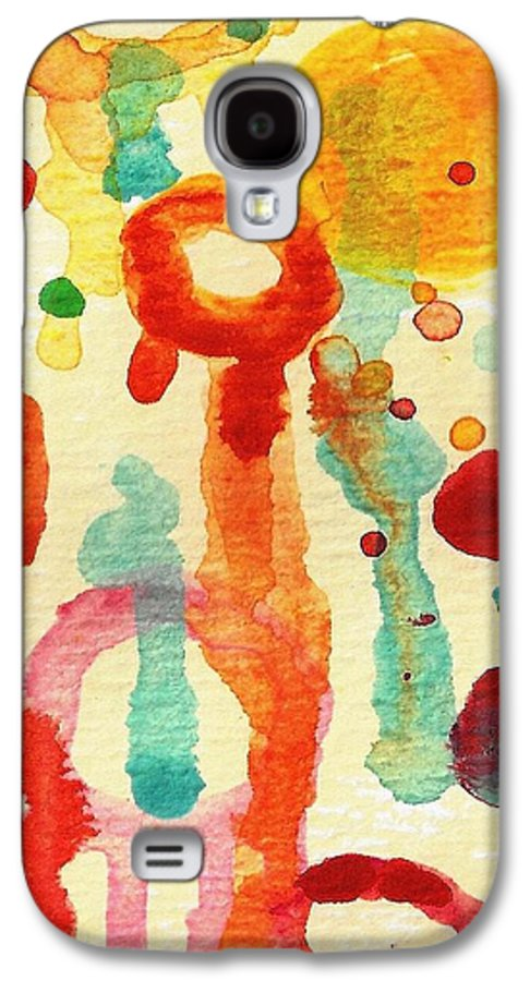 Abstract Galaxy S4 Case featuring the painting Encounters 1 by Amy Vangsgard