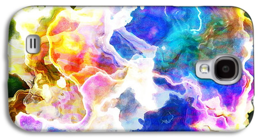 Abstract Art Galaxy S4 Case featuring the mixed media Essence - Abstract Art by Jaison Cianelli