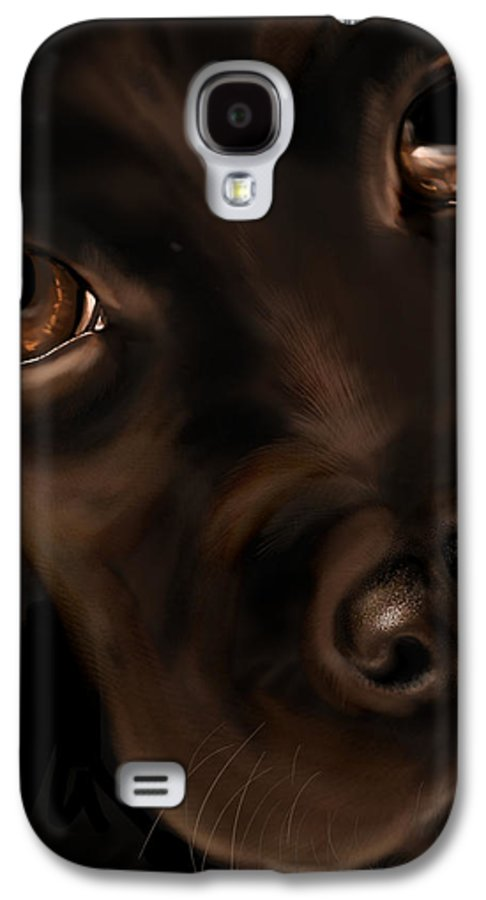 Digital Galaxy S4 Case featuring the painting Eyes by Veronica Minozzi