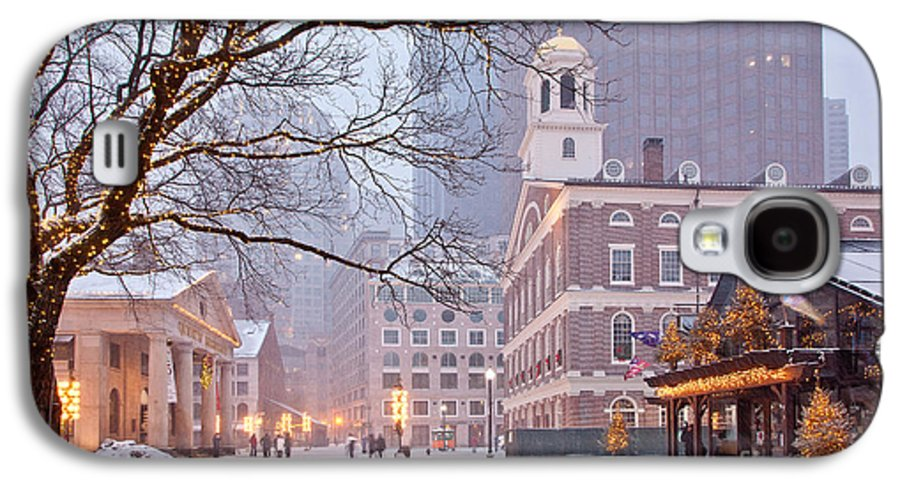 Architecture Galaxy S4 Case featuring the photograph Faneuil Hall In Snow by Susan Cole Kelly