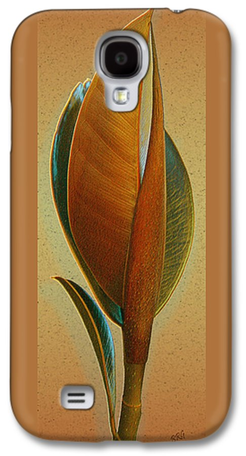 Abstract Galaxy S4 Case featuring the photograph Fantasy Leaf by Ben and Raisa Gertsberg