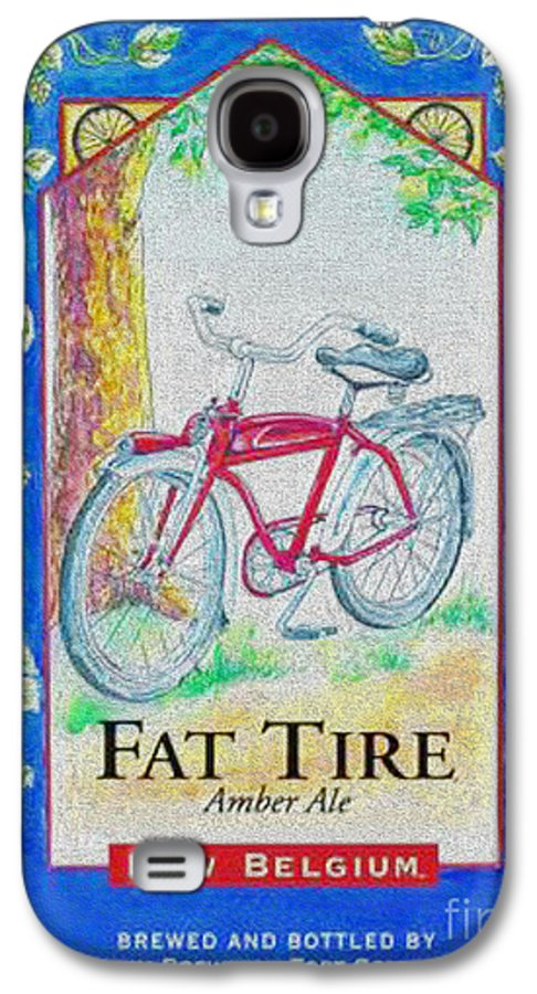 Fat Tire Galaxy S4 Case featuring the digital art Fat Tire by Cheryl Young