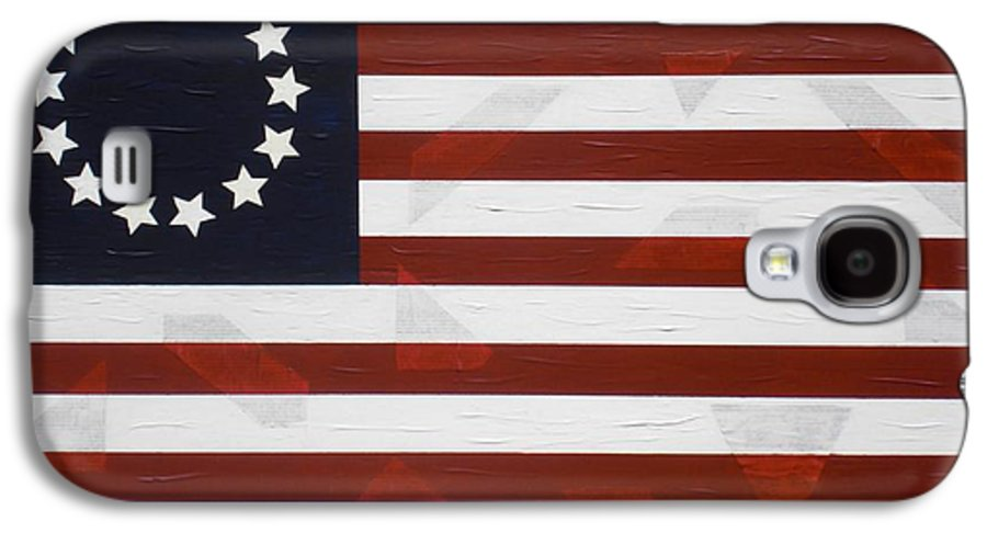Flag Galaxy S4 Case featuring the painting Flag - Declaration by Kelvin Kelley