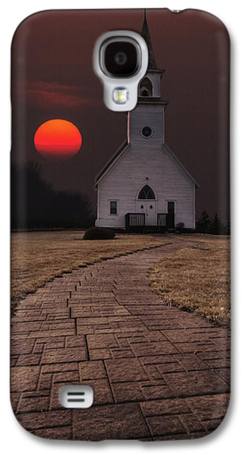 Church Galaxy S4 Case featuring the photograph Fort Belmont Sunset by Aaron J Groen