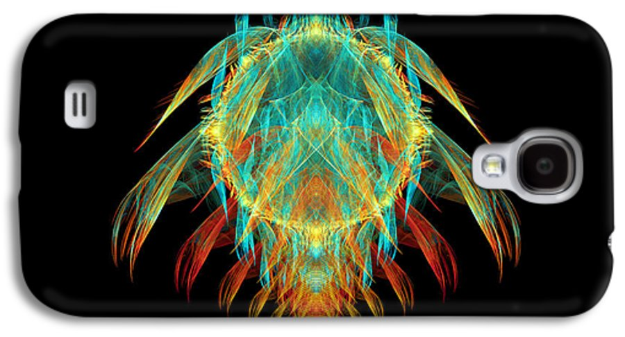 Fractal Galaxy S4 Case featuring the digital art Fractal - Insect - I Found It In My Cereal by Mike Savad