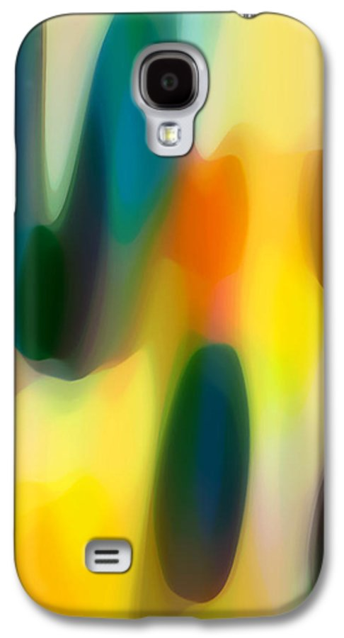 Bold Galaxy S4 Case featuring the painting Fury Rain 5 by Amy Vangsgard