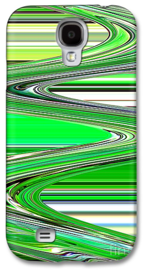 Green Abstract Galaxy S4 Case featuring the photograph Go With The Flow by Carol Groenen