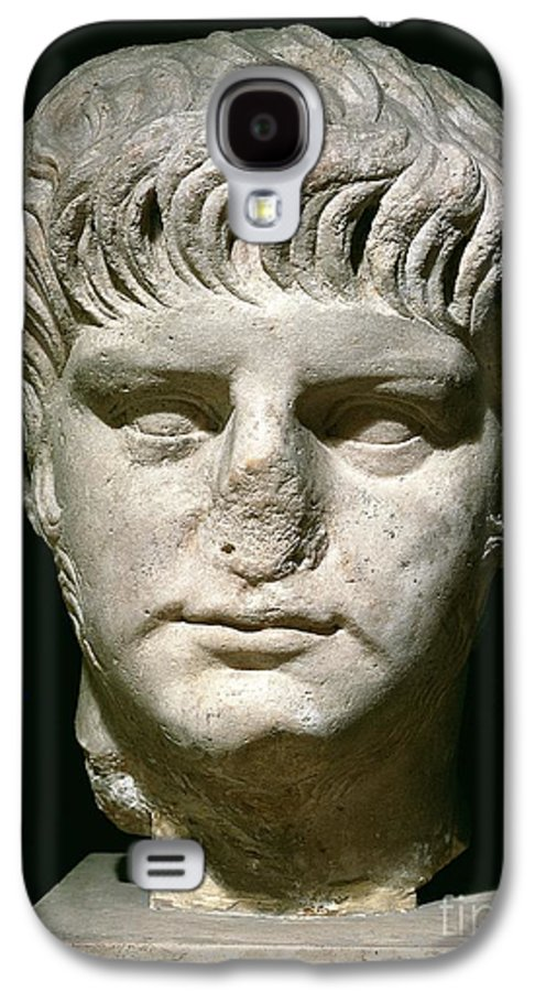 Roman Emperor Galaxy S4 Case featuring the sculpture Head Of Nero by Anonymous