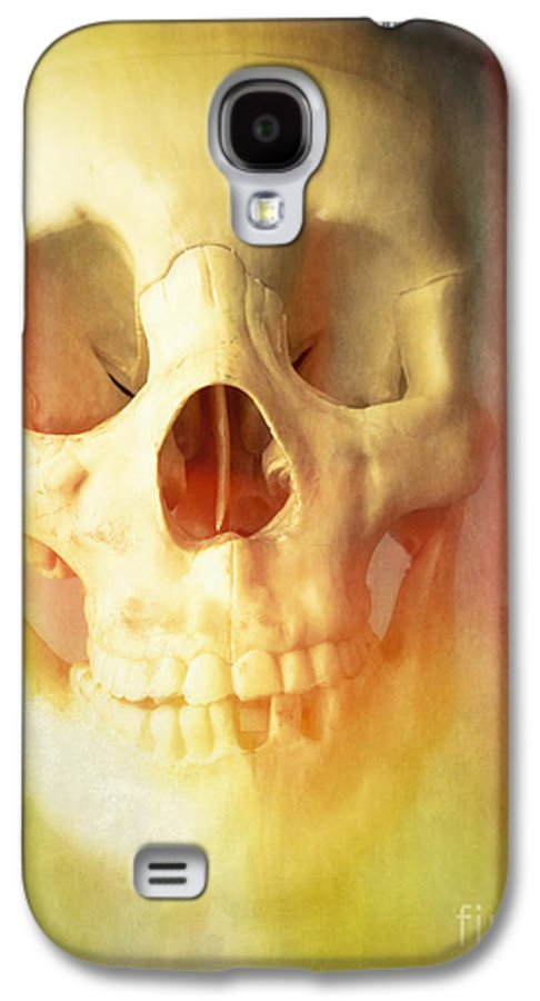 Skeleton Bones Skull Human Halloween Creepy Spooky Dead Galaxy S4 Case featuring the photograph Hell Fire by Edward Fielding