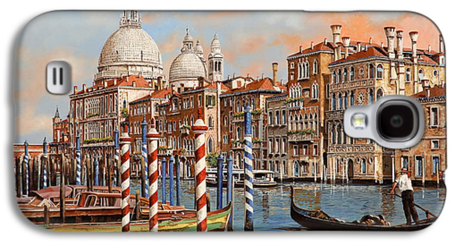 Venice Galaxy S4 Case featuring the painting Il Canal Grande by Guido Borelli