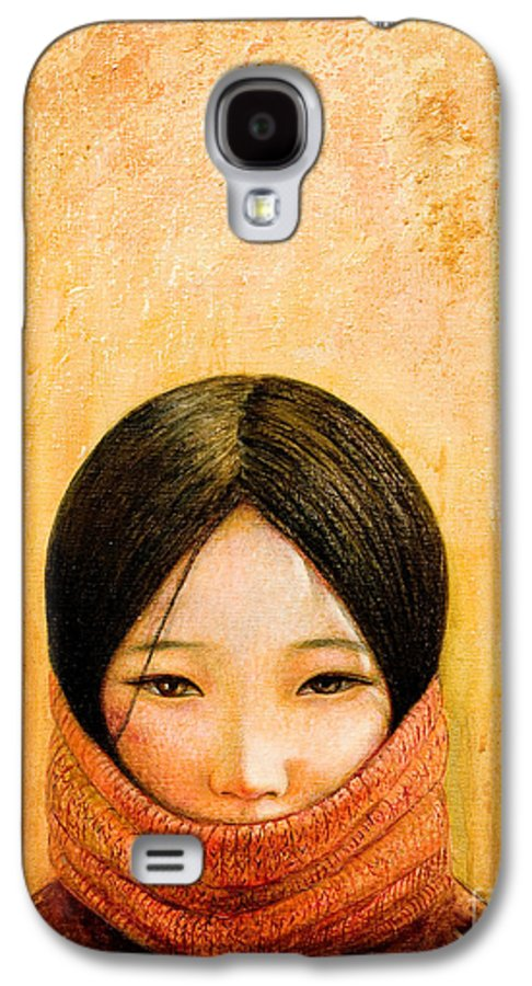 Tibet Galaxy S4 Case featuring the painting Image Of Tibet by Shijun Munns