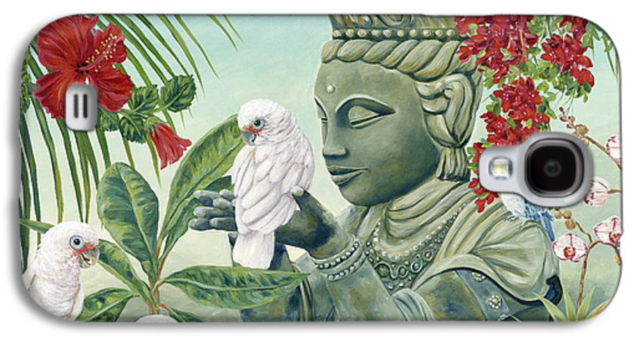 Buddah Galaxy S4 Case featuring the painting In The Company Of Angels by Danielle Perry