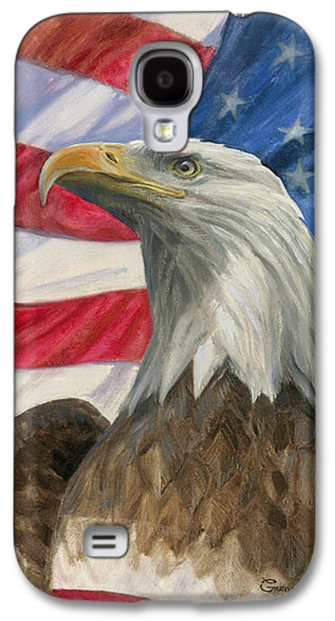 American Eagle Galaxy S4 Case featuring the painting Independence Day by Gregory Doroshenko