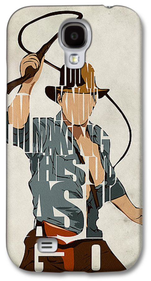 Indiana Jones Galaxy S4 Case featuring the painting Indiana Jones - Harrison Ford by Ayse Deniz
