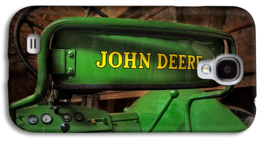 Diesel Galaxy S4 Case featuring the photograph John Deere Tractor by Susan Candelario