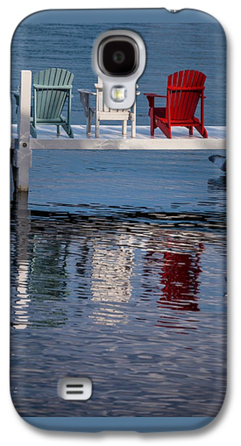 Chair Galaxy S4 Case featuring the photograph Lakeside Living Number 2 by Steve Gadomski