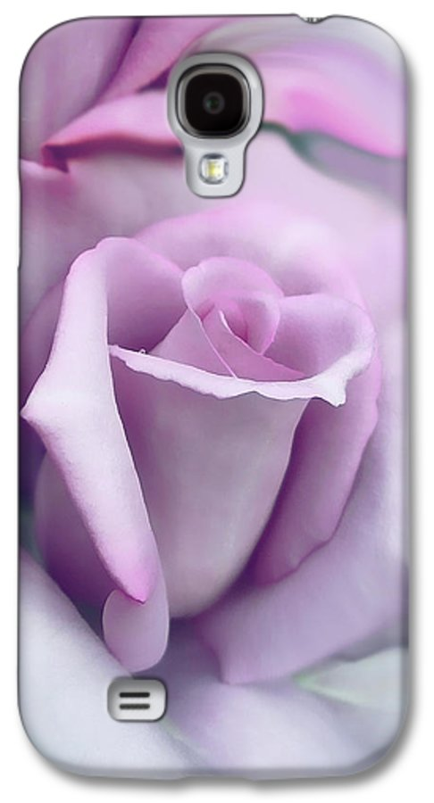 Rose Galaxy S4 Case featuring the photograph Lavender Rose Flower Portrait by Jennie Marie Schell