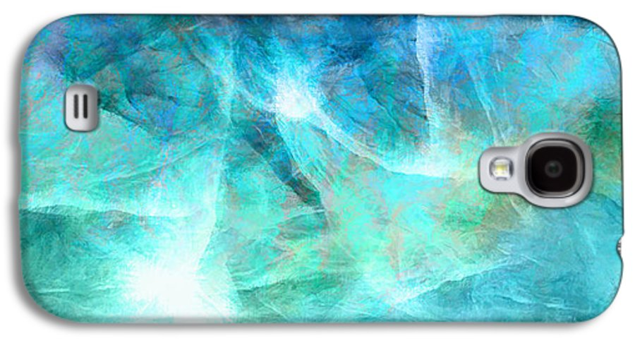 Large Abstract Galaxy S4 Case featuring the painting Life Is A Gift - Abstract Art by Jaison Cianelli