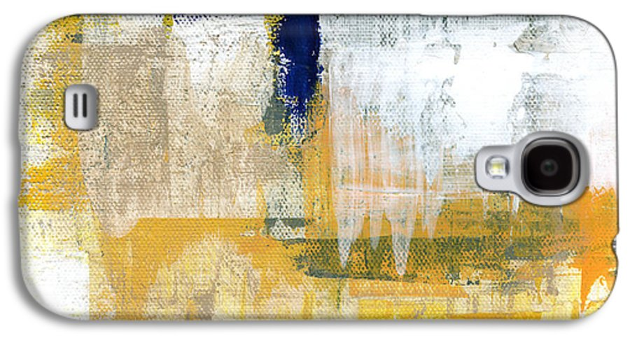 Abstract Galaxy S4 Case featuring the painting Light Of Day 2 by Linda Woods