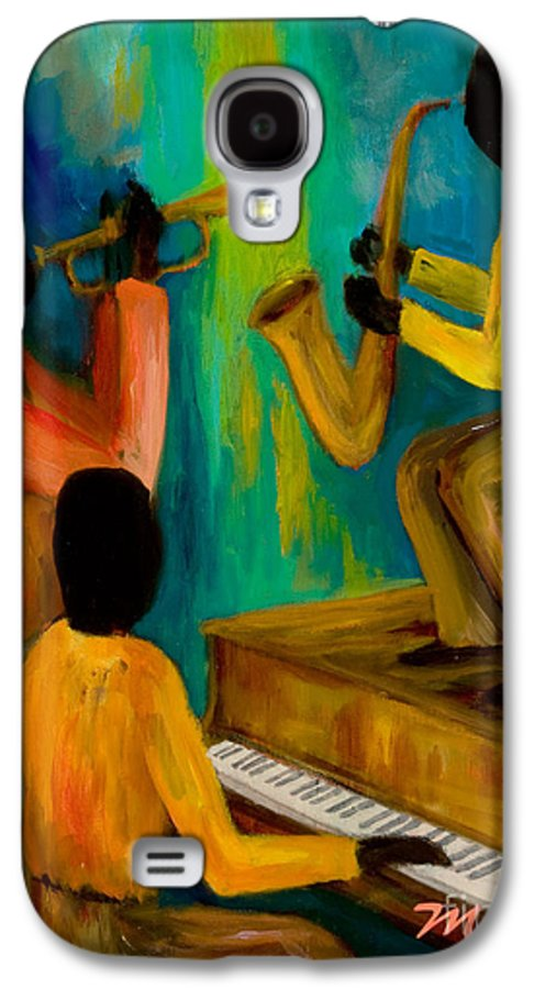 Jazz Galaxy S4 Case featuring the painting Little Jazz Trio I by Larry Martin