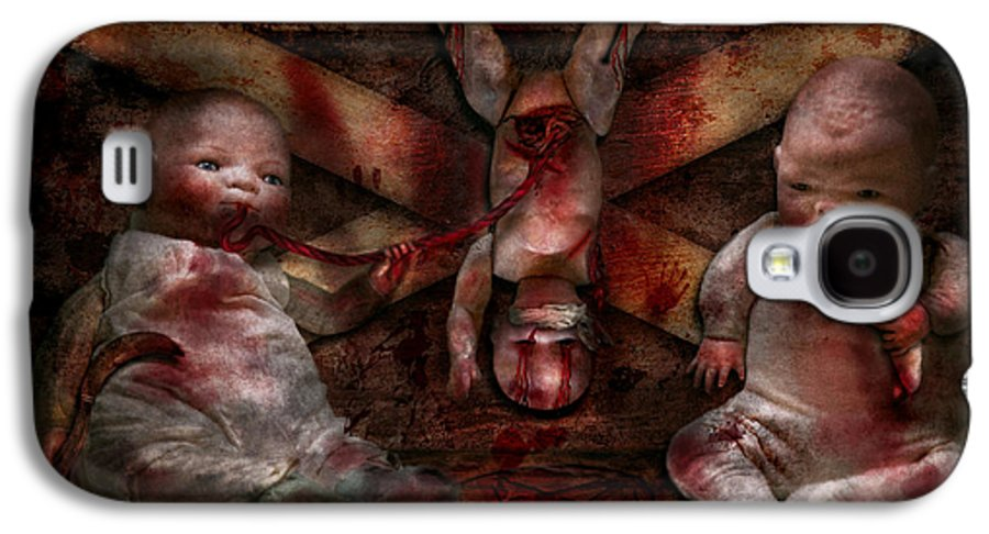 Halloween Galaxy S4 Case featuring the photograph Macabre - Dolls - Having A Friend For Dinner by Mike Savad