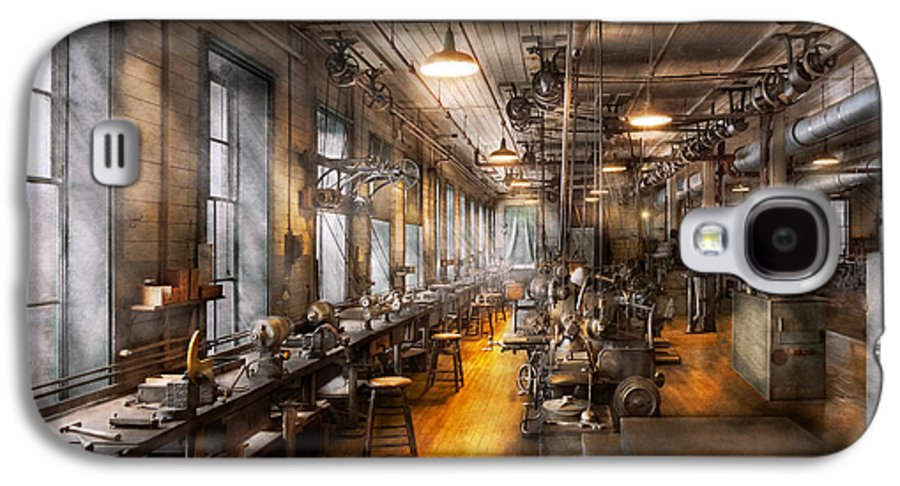 Steampunk Galaxy S4 Case featuring the photograph Machinist - Santa's Old Workshop by Mike Savad
