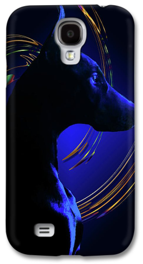 Doberman Galaxy S4 Case featuring the photograph Magnificent Blue by Rita Kay Adams