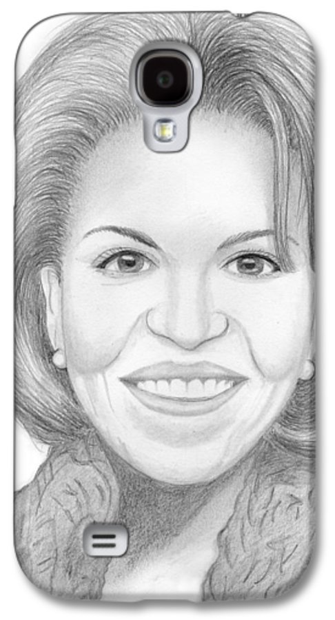 Michelle Obama Galaxy S4 Case featuring the drawing Michelle Obama by M Valeriano