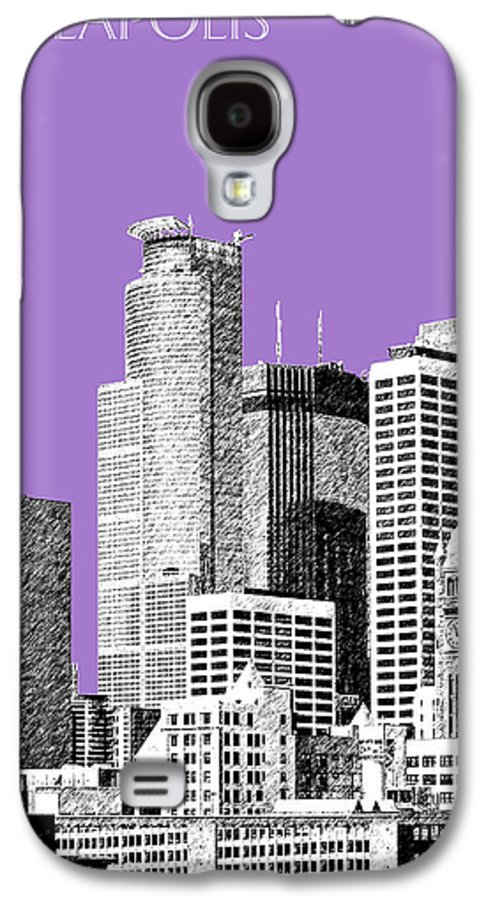 Architecture Galaxy S4 Case featuring the digital art Minneapolis Skyline - Violet by DB Artist