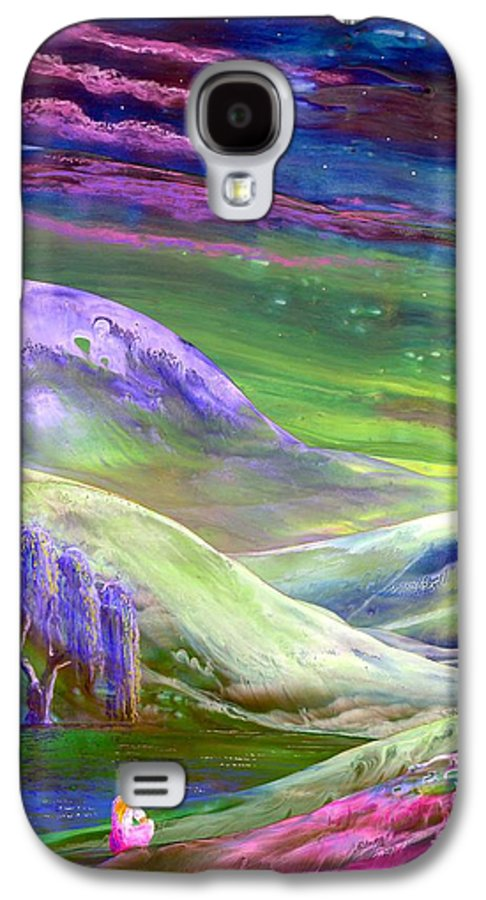Moonlight Galaxy S4 Case featuring the painting Moon Shadow by Jane Small