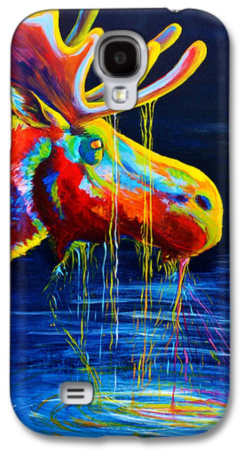 Moose Galaxy S4 Case featuring the painting Moose Drool by Teshia Art