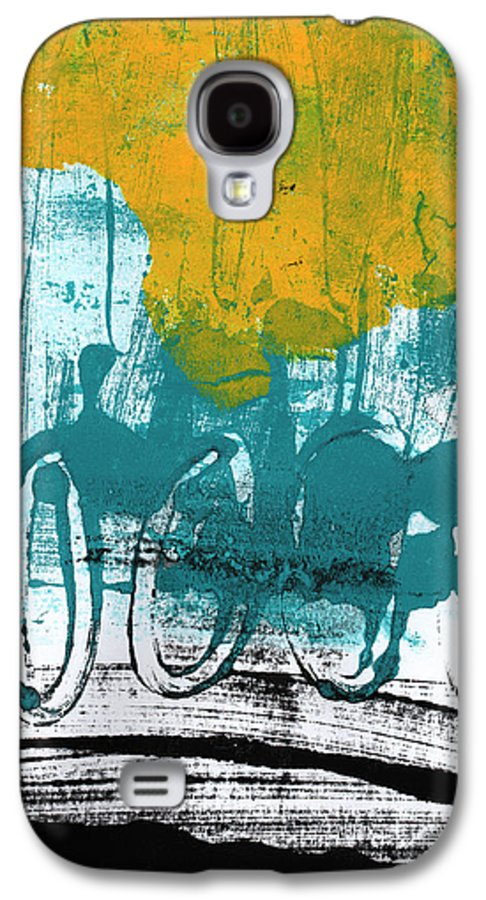 Abstract Painting Galaxy S4 Case featuring the painting Morning Ride by Linda Woods