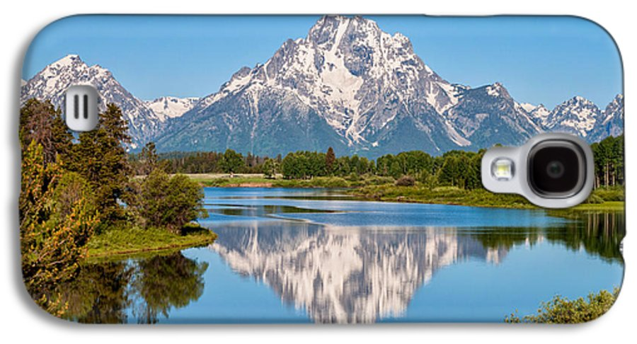 Mount Moran On Snake River At Oxbow Bend Grand Teton National Park Galaxy S4 Case featuring the photograph Mount Moran On Snake River Landscape by Brian Harig