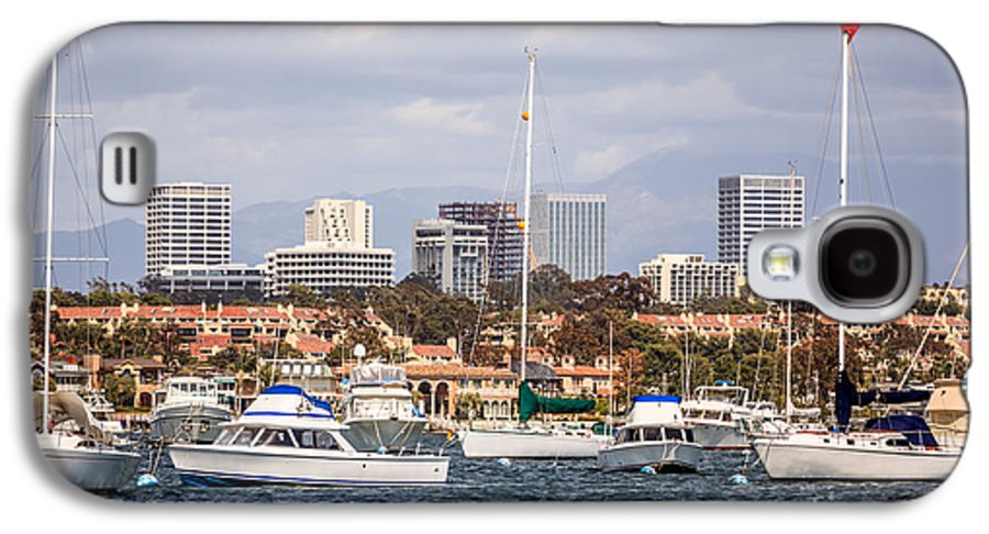 America Galaxy S4 Case featuring the photograph Newport Beach Skyline by Paul Velgos