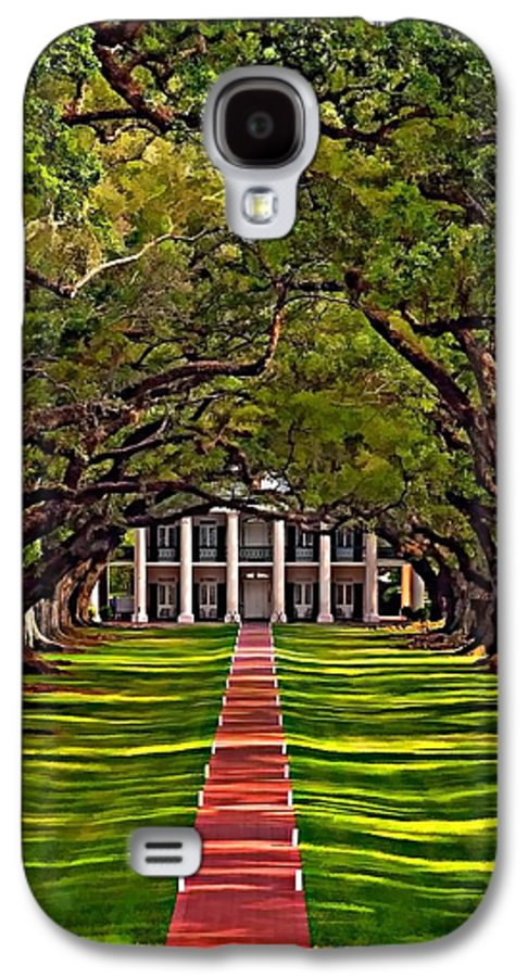 Oak Alley Plantation Galaxy S4 Case featuring the photograph Oak Alley II by Steve Harrington